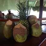 always fresh coconuts and pineapples at the bar for drinks