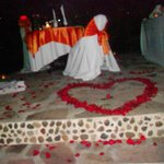 Private romantic dinner at Rancho Pura Vida