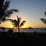 sunset near the Dhow Bar