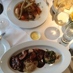 Main courses, chicken breast and belly pork - both delicious