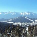 vue de Seefeld depuis les pistes