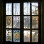 Surviving vintage painted windows, west wing