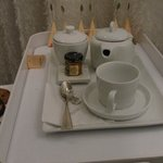 Tea service in spa