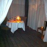 Private cabana dinner