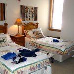 two twin beds with full bath