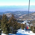 Looking back and down from the Tesuque lift