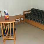 Dining area and settee bed(used when 4 bkd)