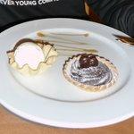 Rich chocolate tart & vanilla ice cream