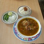 Patty's Beef Soup served with a side of fresh white rice and fixings!