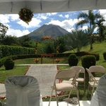 View from the wedding ceremony area
