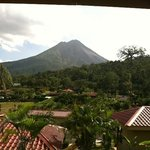 View of the volcano from my room