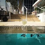 my drink by the pool