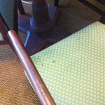 All the chairs were dirty as well as the carpet
