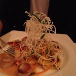 Scallops with lobster risotto!