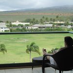 A relaxing book read on the Lanai