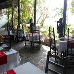 the restaurant - very pleasant and nice views of the Piton