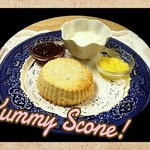 We enjoyed 2 tasty scones! This is the cream scone!