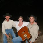 Me with Dave & Joe by the campfire singing songs