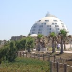 The hotel from the sea promenade