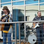 Band outside of the Arena