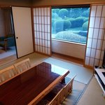 japanese suite looking out over japanese garden