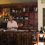 Owner Fabrizio Salvini at the bar