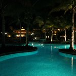 At night, one of the pools