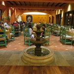 By far the prettiest dining area: the Mexican Restaurant