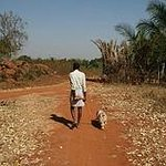 Rajendran and Happy on our morning walk