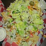 Nacho salad someone from our group ordered.