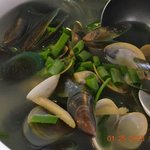Seafoods:  clam soup
