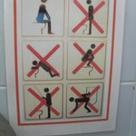 Toilet instuctions (bottom left, no fishing???)