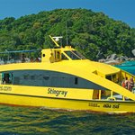 Our dive catamaran, the MC Stingray