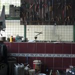 Bike tool shed in the garage