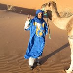 Our delightful camel driver, Achmed