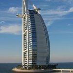 View from our room of Burj al Arab