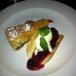 Bakewell tart, black cherries & clotted cream