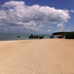 Horse riding on the Le Morne Beach