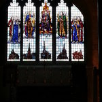 Stained glass window with the parishes