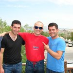 Ufuk pension manager Orhan /right/ and his brother /left/