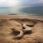 Some firends from Holland made this beautiful mermaid. Picture taken while the