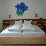 Doppelzimmer mit Enzianblume