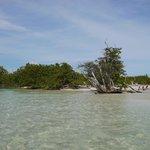 10 minuutjes lopen, prachtige lagune