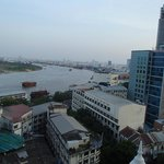 View of the Saigon river from the room