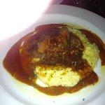 lamb shank on polenta
