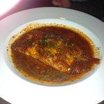 pan seared salmon with tomato chili sauce