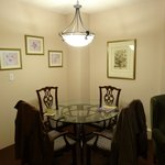 In-room dining area