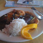 Shrimp with Eggplant