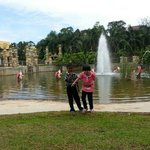 fountains and koi pond