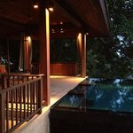 the veranda attached to your room